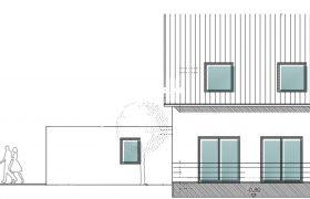 Skizze Doppelhaus in Neufahrn